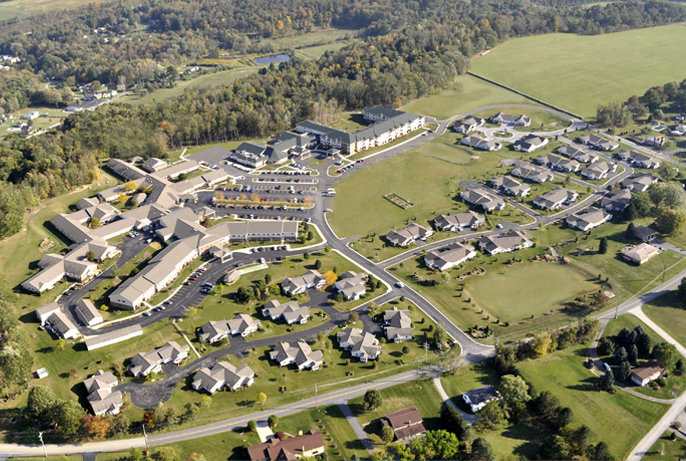 Aerial Photo of Laurel View Village Campus