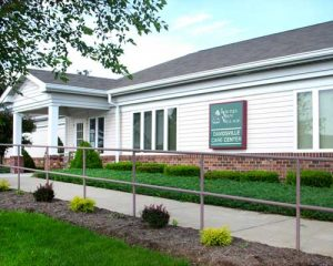 Exterior of rehab therapy Care Center at Laurel View Village