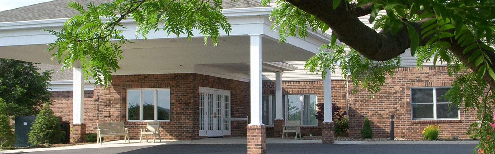 Exterior of retirement community at Laurel View Village
